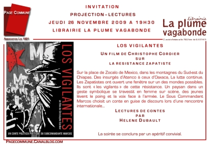 INVITATION LOS VIGILANTES